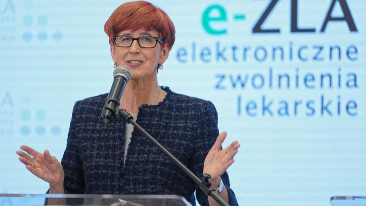 Rafalska: od 1 grudnia wystawiono ponad 1,3 mln e-zwolnień