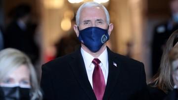 Ustępujący wiceprezydent Mike Pence na zaprzysiężeniu Bidena