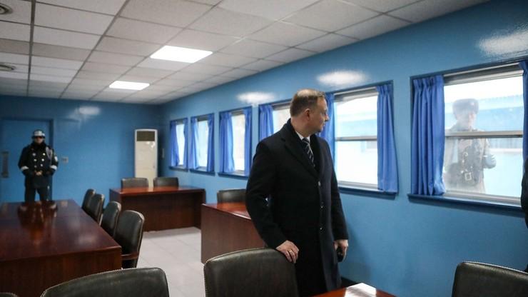 Prezydent Duda odwiedził strefę zdemilitaryzowaną