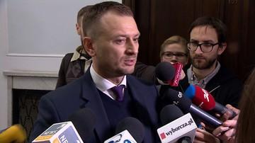 """""""Co Pan tu robi"""". Nitras pyta ochroniarza Kaczyńskiego i zawiadamia marszałka Sejmu"""