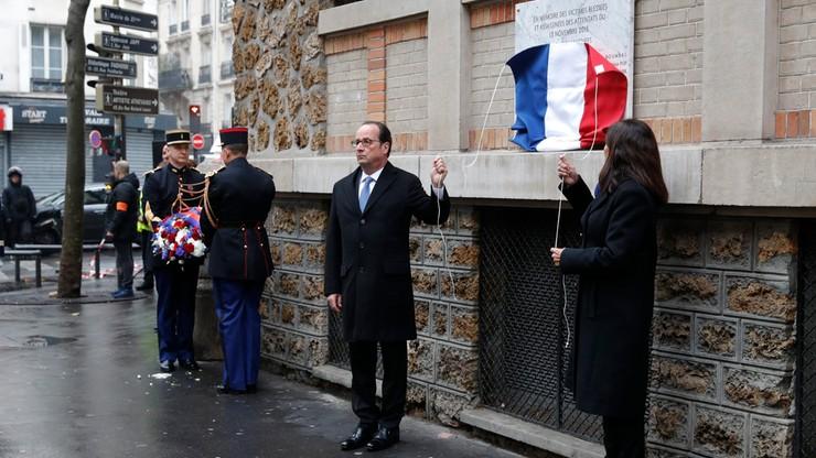 Prezydent Hollande oddał hołd ofiarom zamachów w Paryżu