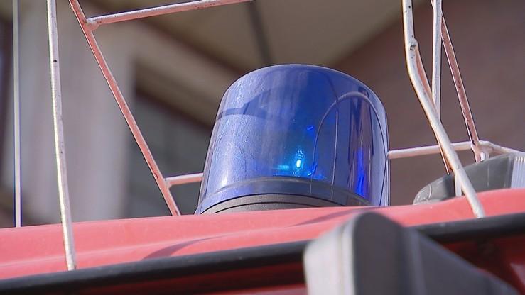 Blisko 100 strażaków gasi pożar garbarni w okolicach Łasku (Łódzkie)