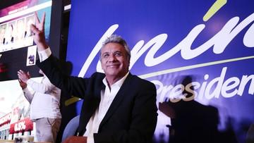 Lewicowy Lenin Moreno zwycięzcą pierwszej tury wyborów prezydenckich w Ekwadorze