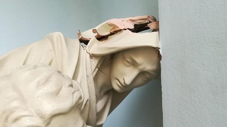 Wandale uszkodzili Pietę z kościoła kapucynów w Warszawie