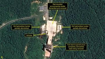 Korea Północna likwiduje poligon w Sohae. Testowano tam silniki do rakiet dalekiego zasięgu