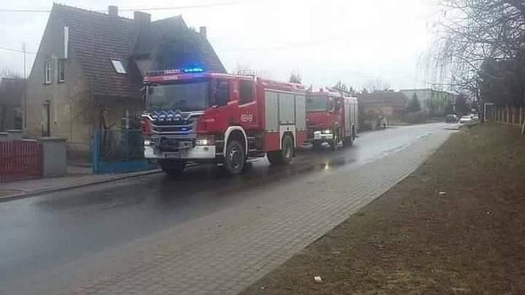 Akcja strażaków w Starym Bojanowie (woj. wielkopolskie)