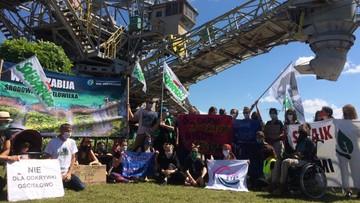 Ekolodzy w kopalni węgla. Protest chwilowo wstrzymał wydobycie