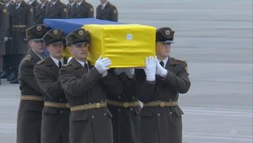 Samolot z ciałami ofiar katastrofy w Iranie wylądował pod Kijowem