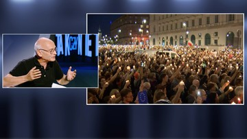 """""""Prezydent zmienił stanowisko, bo ludzie wyszli na ulice"""". Niesiołowski w programie """"Tak czy Nie"""""""