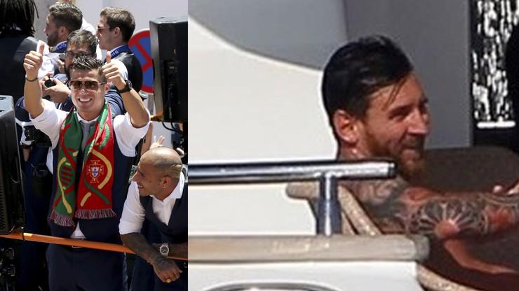 Ronaldo na swoim jachcie, Messi na swoim. Dzieli ich kilka metrów