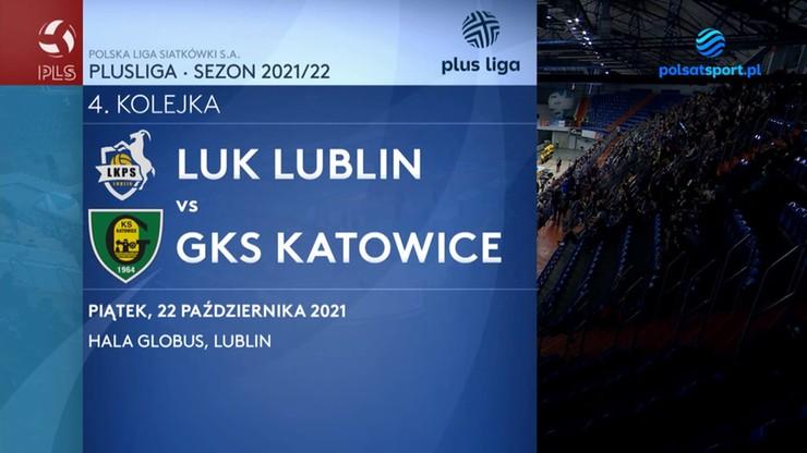 LUK Lublin - GKS Katowice 3:0. Skrót meczu