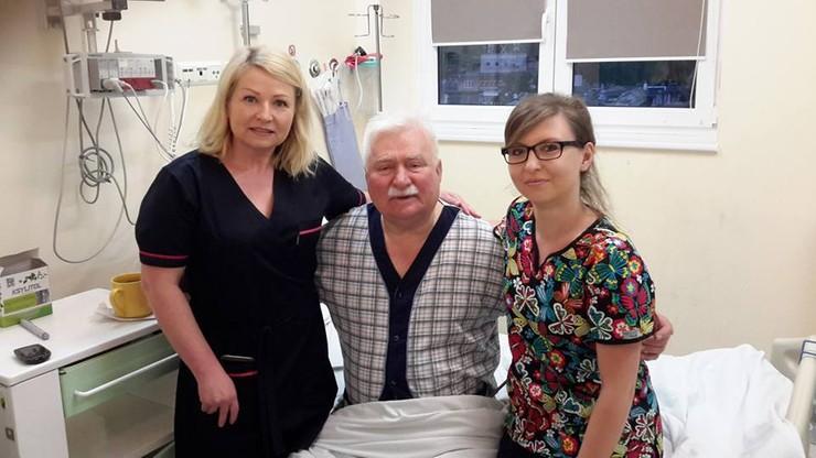 Lech Wałęsa wyszedł ze szpitala