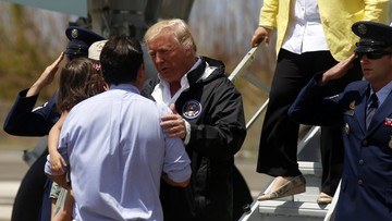 Trump odwiedził Portoryko zniszczone przez huragan Maria