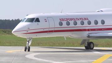 Awaryjne lądowanie rządowego samolotu Gulfstream