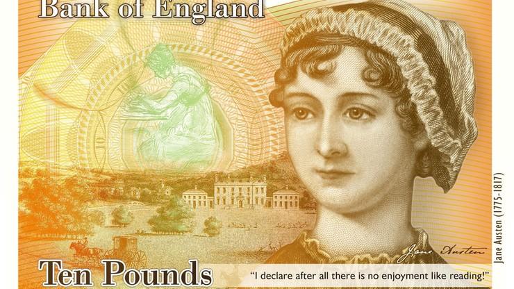 Jane Austen zastąpiła Darwina. Nowy banknot dziesięciofuntowy