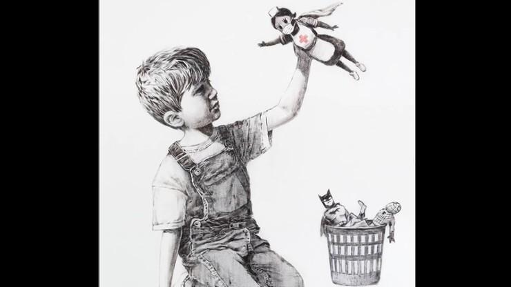 Obraz Banksy'ego na aukcji. Pieniądze trafią do służby zdrowia