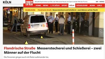 Atak nożowników i strzały w centrum Kolonii
