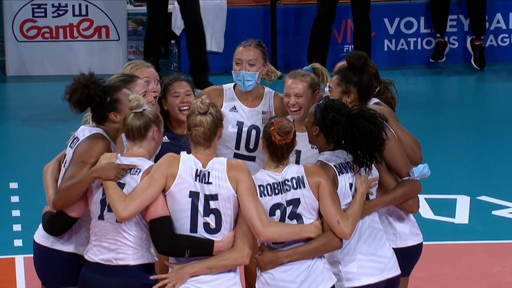 Liga Narodów siatkarek: Reprezentacja USA awansowała do finału
