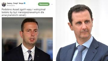 """Gmyz znowu szokuje: lidera ludowców porównał do przywódcy Syrii. """"Jest pan absolutnym moralnym dnem"""""""