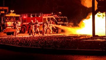 Trzech strażaków rannych w pożarze własnej remizy