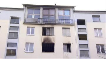 Zabarykadował się w mieszkaniu, podpalił je i powiesił się