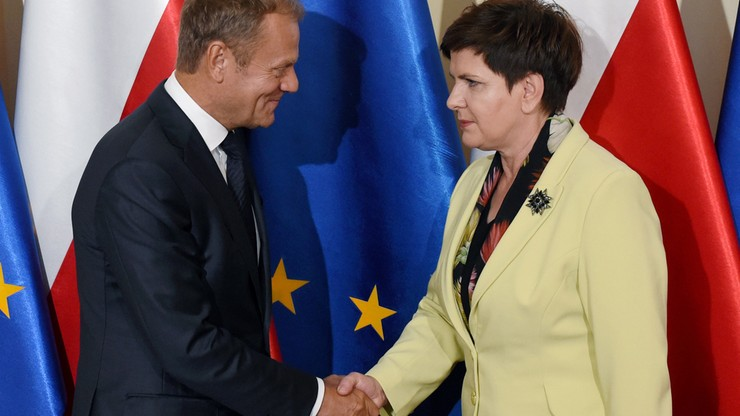 Spotkanie Beaty Szydło z Donaldem Tuskiem. Konsultacje przed szczytem UE