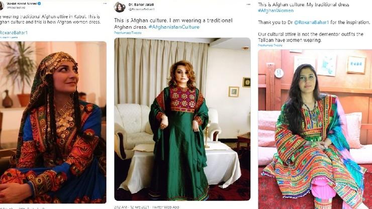 Afganki publikują zdjęcia w tradycyjnych strojach. Sprzeciwiają się ograniczeniom wobec kobiet