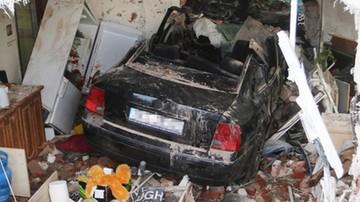 Wpadła autem do domu, była pod wpływem środków odurzających
