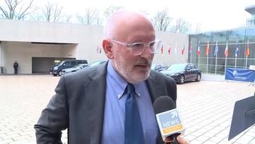Timmermans: Polacy muszą robić więcej w Europie