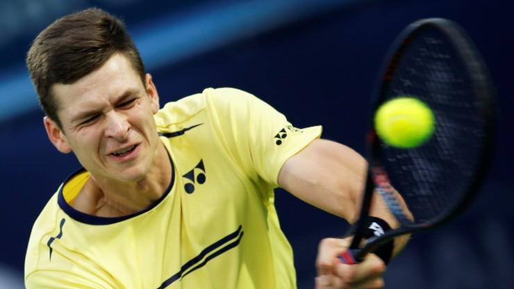 ATP w Dubaju: Hurkacz dzielnie walczył, ale przegrał z Tsitsipasem