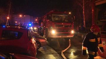 Tragiczny pożar w Tarnowie. Mężczyzna wyskoczył z dziewiątego piętra