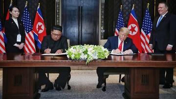 """Historyczne spotkanie przywódców USA i Korei Płn. """"Denuklearyzacja rozpocznie się bardzo szybko"""""""