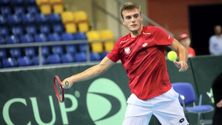 Puchar Davisa: Polska – Salwador 1:0 po zwycięstwie Kacpra Żuka