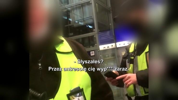 Ksenofobia i rasizm. Tak ochroniarze z Dworca Centralnego obrażali Białorusina