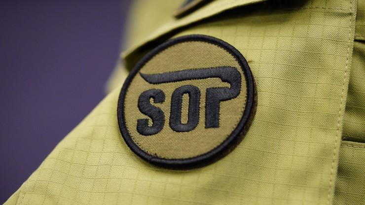Ulotką z wizerunkiem ofiar katastrofy smoleńskiej SOP zachęcała do wstąpienia w swoje szeregi