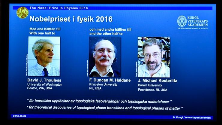 Nobel z fizyki za matematykę odmiennych stanów materii