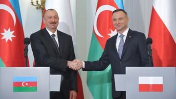 """""""Chcemy wzmacniać relacje polityczne i gospodarcze"""". Wizyta prezydenta Azerbejdżanu w Polsce"""