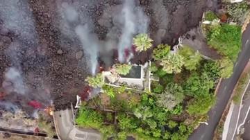 Wyspy Kanaryjskie. Pierwszy wybuch wulkanu od 50 lat w Cumbre Vieja