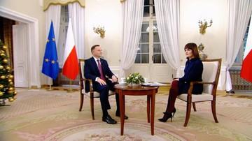 """""""Decyzja KE jest czysto polityczna, nie rozumiem jej"""". Prezydent w programie #DorotaGawrylukZaprasza"""
