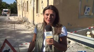 Korespondentka Polsat News: wciąż zdarzają się wstrząsy wtórne; są krótkie, ale silne