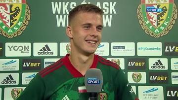 Szymon Lewkot: Strzelenie pierwszego gola na stadionie Śląska Wrocław było czymś niezwykłym