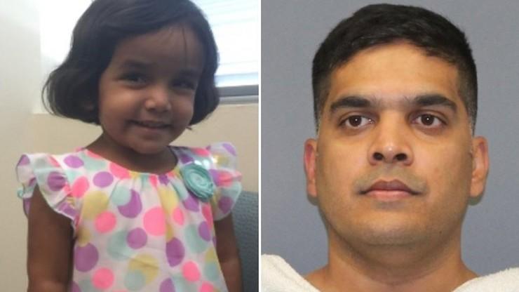 Ojciec przyznał, że ukrył ciało 3-letniej Sherin. Twierdzi, że zakrztusiła się mlekiem, gdy na siłę ją karmił
