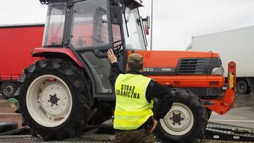 Na Ukrainę wiózł na lawecie traktor skradziony w... Japonii