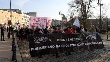 Demonstracja przeciwników powiększenia Opola. Mimo tzw. ciszy mediacyjnej