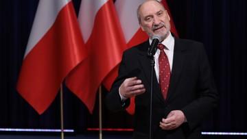 Macierewicz: prosimy, by prezydent nie prowadził do rozdwojenia polskiej armii