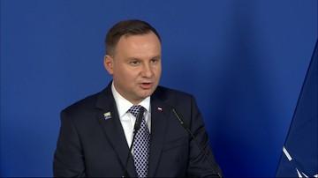 Prezydent Duda: myśmy na tym szczycie mieli absolutnie podniesioną głowę