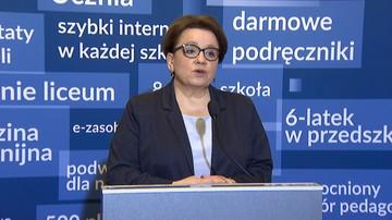 Zalewska: jest gotowy projekt nowelizacji Karty Nauczyciela zgodny z porozumieniem z Solidarnością