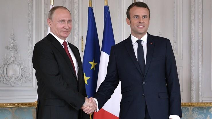Macron za wzmocnieniem partnerstwa z Rosją w walce z terroryzmem