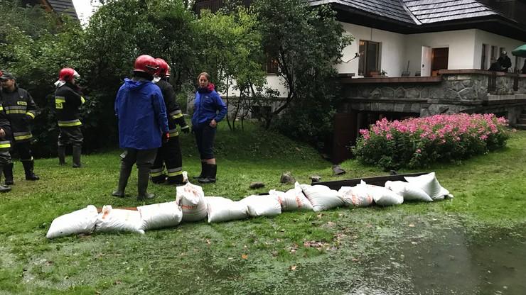 Ulewy wróciły nad Podhale. Woda znowu zalewa domy