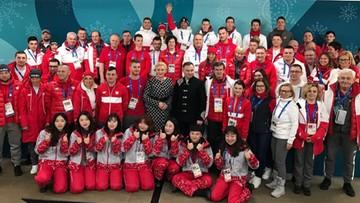 Pjongczang: prezydent Andrzej Duda spotkał się z polskimi sportowcami